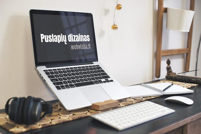 Patrauklus internetinių puslapių dizainas